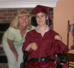 Beth and Brantley in Cap and Gown Thumbnail