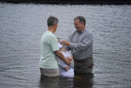 Brantley being baptized 5-5-13