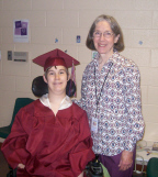Brantley in Cap and Gown with Ms. Judy Thumbnail