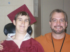 Brantley in Cap and Gown with Will Thumbnail