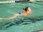 Brantley swimming with WaterWay Babies Neck Float 5-27-14 Thumbnail