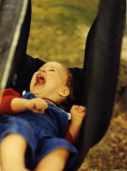 Brantley swinging in tire swing 1987 Thumbnail