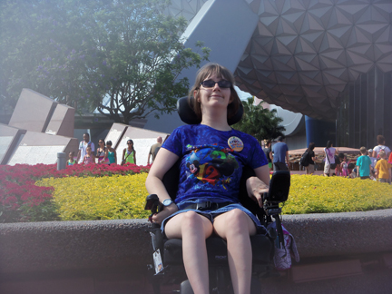 Brantley under Epcot Ball 6-2-12