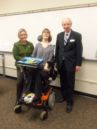 Dr. Mille, Brantley, and Dr. White at Enhancing the Classroom with Disabled Students Presentation 1-8-201304