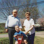 Grandmaw, Grandpa, and Brantley on Scooter 1998 Thumbnail