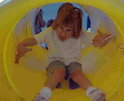 Brantley in a Slide 7 Years Old